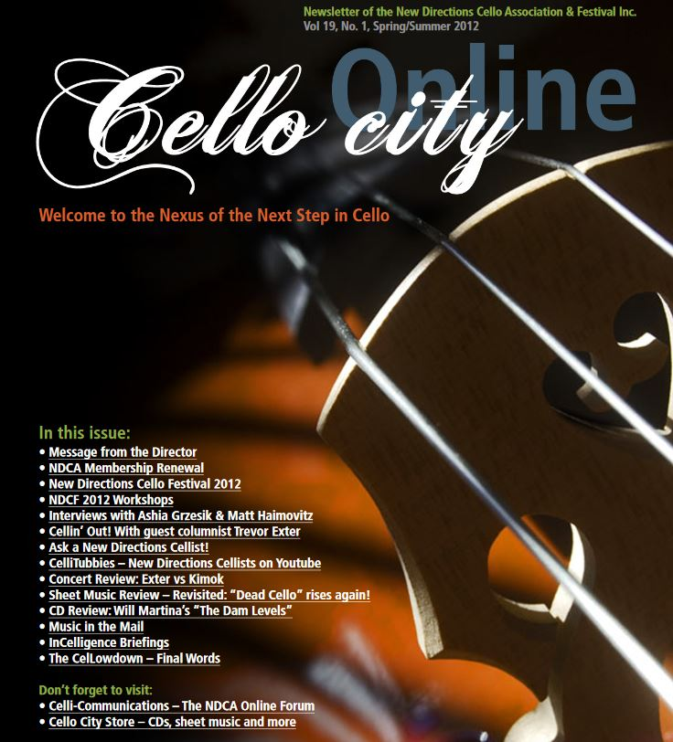 Cello City Online Spring 2012