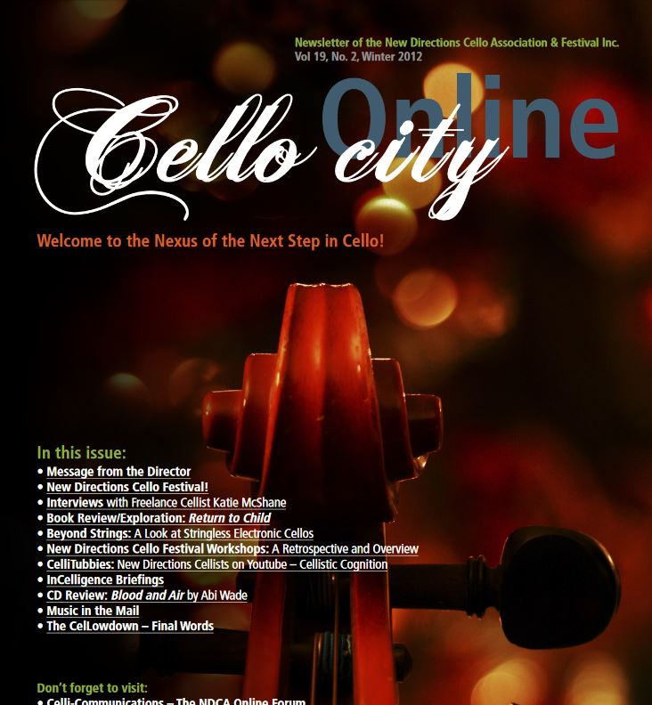 Cello City Online Winter 2012
