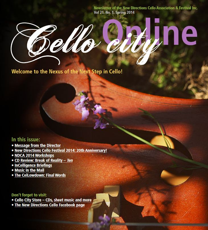 Cello City Online Spring 2014
