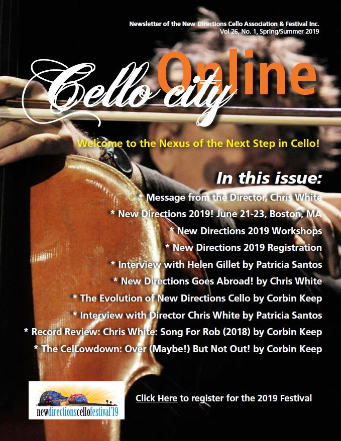 Cello City Online 2019 Newsletter