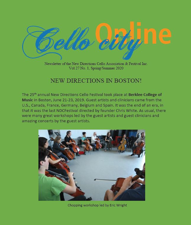 Cello City Online Newsletter 2020